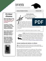 October 2003 Raven Newsletter Juneau Audubon Society