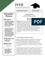 September 2003 Raven Newsletter Juneau Audubon Society