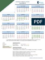 Calendario Académico.2018 19