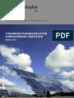 DE2018 ISE Studie Stromgestehungskosten Erneuerbare Energien