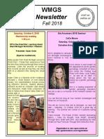 WMGS Fall 2018 Newsletter