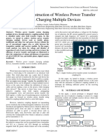 Design and Construction of Wireless Power Transfer System Charging Multiple Devices