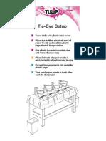 Tie Dye Setup Infographic