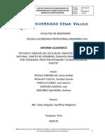Informe de Mecánica de Suelos-Ensayos de Extracion de Calicata