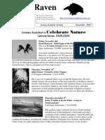 November 2005 Raven Newsletter Juneau Audubon Society