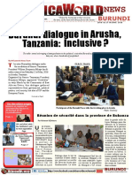 Africa World News Burundi 3rd Edition 20 Th to 27th June 2016