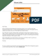 Kindergarten Handwriting Without Tears