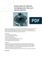 Version 1 Diamond Drive Conversion Kit
