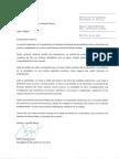 Carta de Capella a la ministra de Justícia
