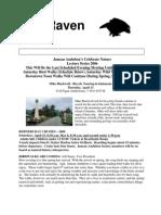 April 2006 Raven Newsletter Juneau Audubon Society