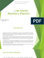 Tasas de Interés Nominal y Efectivo