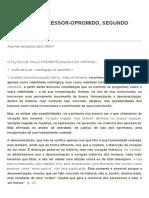A Relação Opressor-oprimido Segundo Paulo Freire