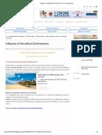 Influence of Heredity & Environment - TET Success Key