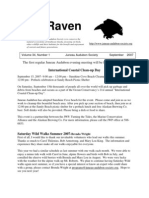 September 2007 Raven Newsletter Juneau Audubon Society