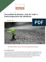 """#Caros Amigos - nov 2017 - Necessidade da História- visão do """"todo"""" e frente progressista não subalterna.pdf"""