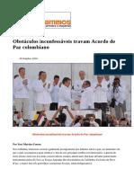 #Caros Amigos - Out 2016 - Obstáculos Inconfessáveis Travam Acordo de Paz Colombiano