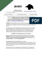 September 2008 Raven Newsletter Juneau Audubon Society