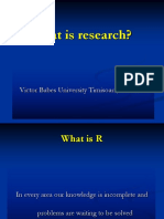 1. What is Reasearch