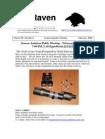 February 2009 Raven Newsletter Juneau Audubon Society
