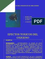 efectos tóxicos del oxígeno