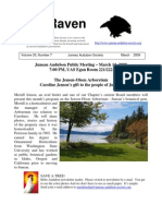 March 2009 Raven Newsletter Juneau Audubon Society