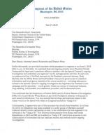 Pelosi, Schiff, Schumer, Warner Ltr to DAG and DFBI (27 Jul 2018)