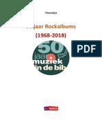Themalijst 50 Jaar Discotheek - Rockalbums