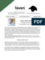 December 2009 Raven Newsletter Juneau Audubon Society