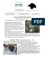 January 2010 Raven Newsletter Juneau Audubon Society