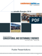 1583rd Conference. Sustainable Energies 2018