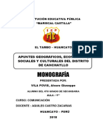 Canchayllo Mono