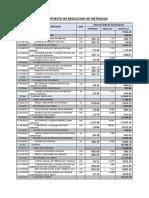 Presupuesto de Reduccion de Metrados