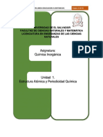 Unidad 1. Estructura Atómica y Periodicidad Química