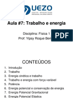 YRB FISICA_Aula-7 Trabalho e Energia. E Exercícios