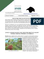 September 2010 Raven Newsletter Juneau Audubon Society