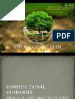 EcoLaw Report - Oposa vs. Factoran