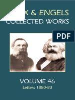 Marx & Engels Collected Works Volume 46 Karl Marx