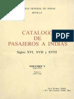 Catálogo de Pasajeros a Indias. V