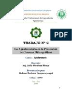 Agroforesteria en Proteccion de Cuencas Hidrograficas