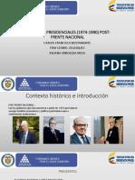 Gobiernos Post Frente Nacional