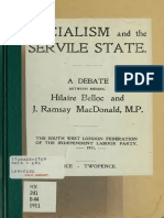 Socialism and the Servile State - A Debate Between Messrs. Hilaire Belloc and J. Ramsay MacDonald