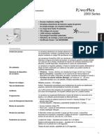 Powerplex 2000 Specfications Spanish