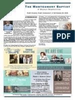 18 09 20 Montgomery Baptist Newsletter