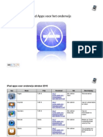 iPadlijst voor onderwijs