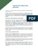 Panorama Geral Dos Status Dos Acordos Setoriais
