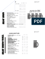 Beat Brew Hall Opening Beer List