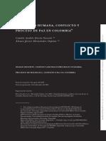 Seguridad Humana Conflicto y Proceso de Paz en Colombia - Camilo Andrés Devia Garzón & Álvaro Javier Hernández Ospina
