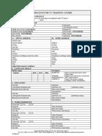 Tc Training Form