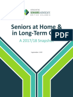 Seniors at Home and Long-Term Care