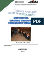 Evaluacion Matematica 2 Simulacro